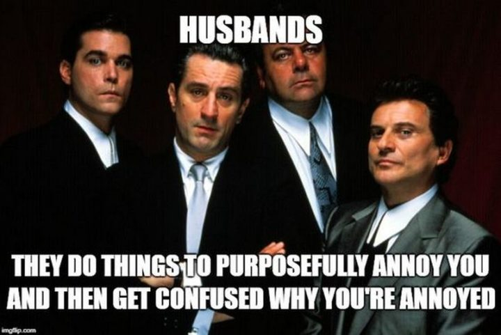 """""""Husbands: They do things to purposefully annoy you and then get confused why you're annoyed."""""""