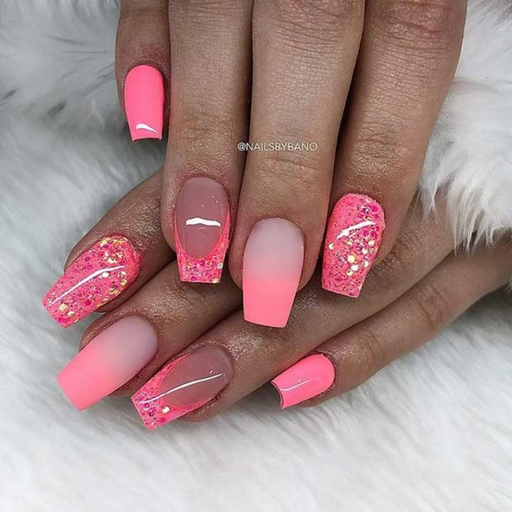 Neon pink nails that scream WOW!