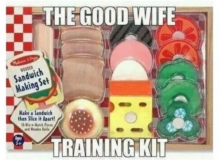 """The good wife training kit."""