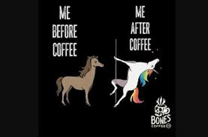 """""""Me before coffee VS Me after coffee."""""""