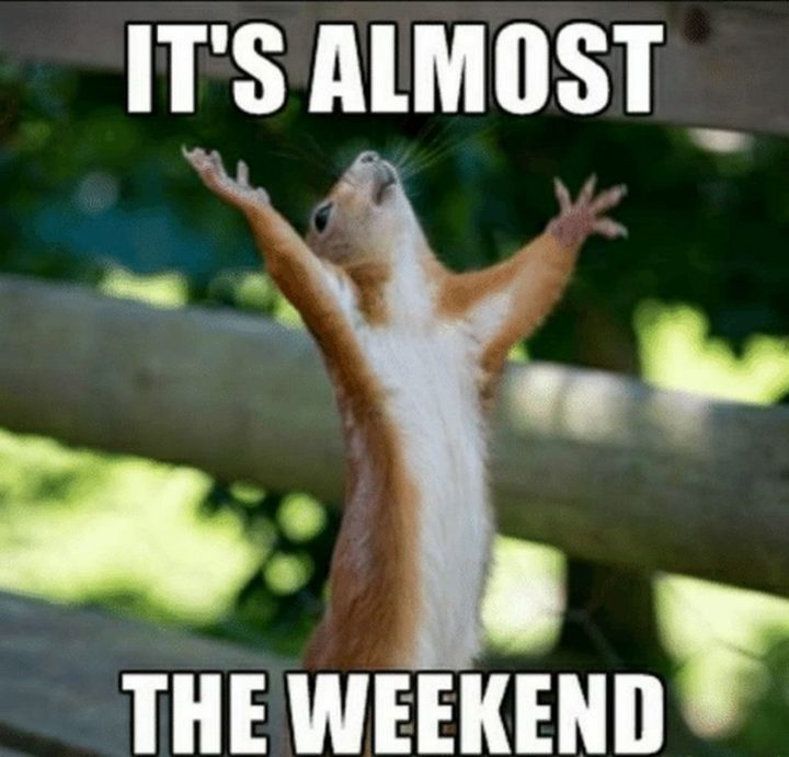 """""""It's almost the weekend."""""""