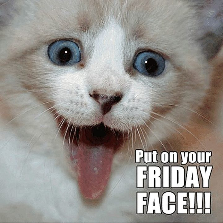 """""""Put on your Friday face!!!"""""""