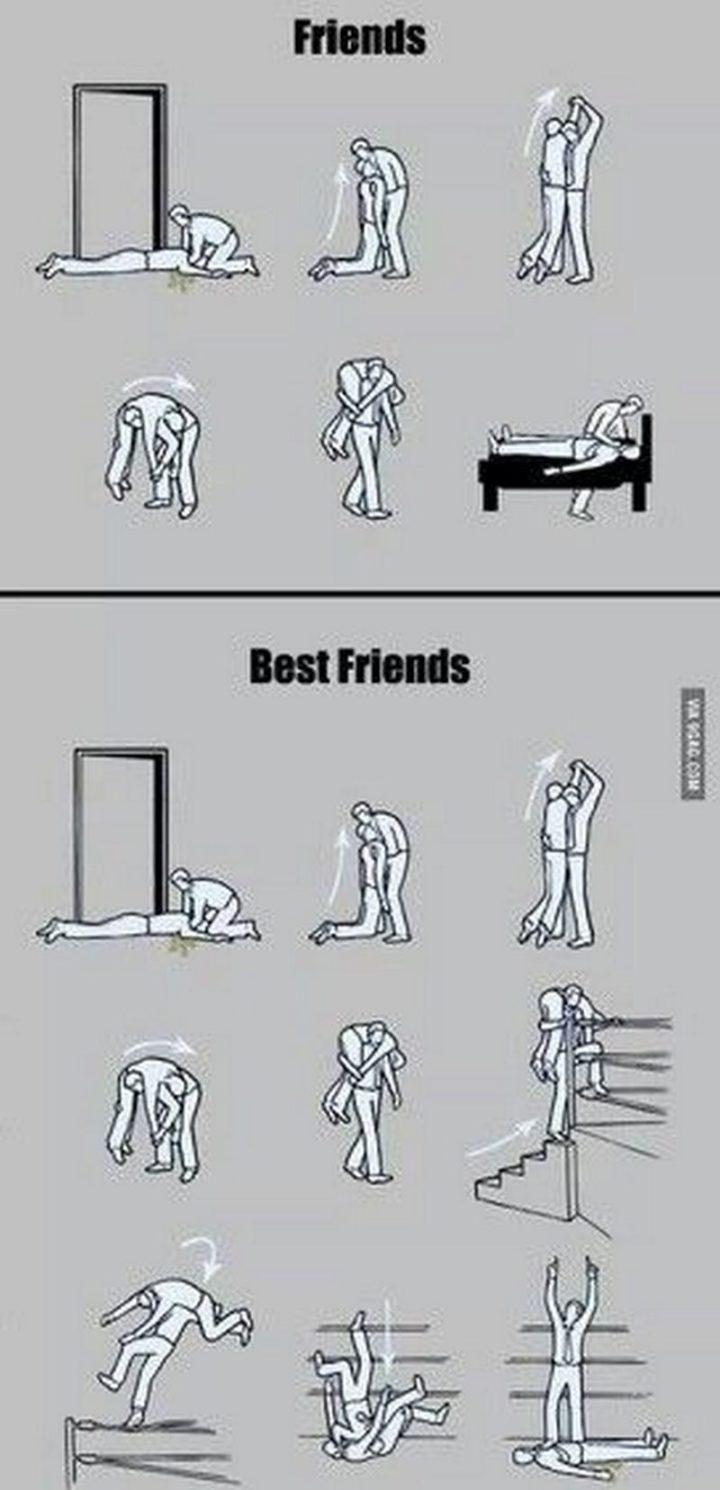 "51 Men Memes - ""Friends vs best friends."""