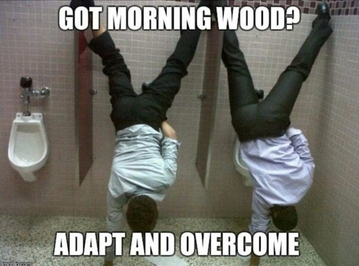 """""""Got morning wood? Adapt and overcome."""""""