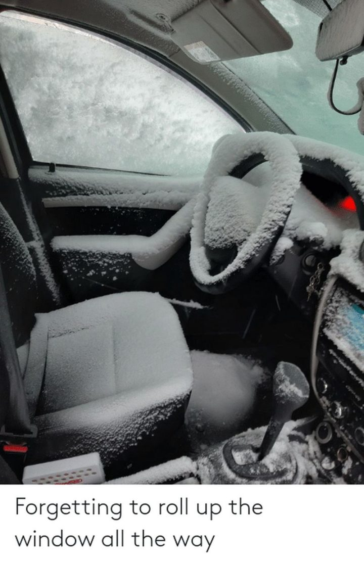 """31 Instant Regret Moments - """"Forgetting to roll up the window all the way."""""""