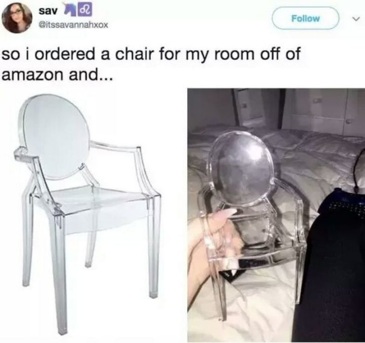 """""""So I ordered a chair for my room off of Amazon and..."""""""