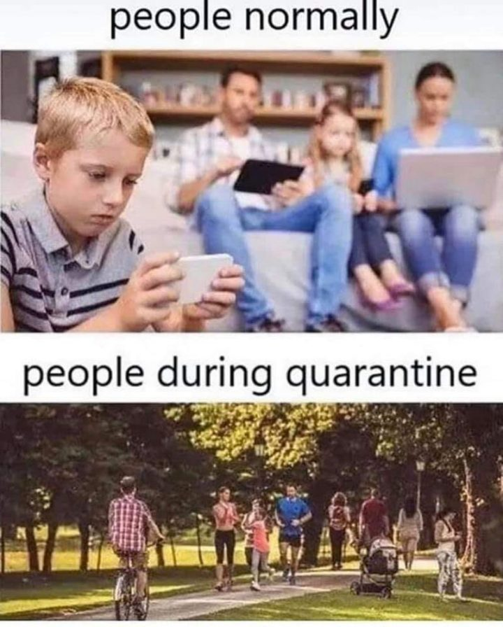 """People normally vs People during quarantine."""