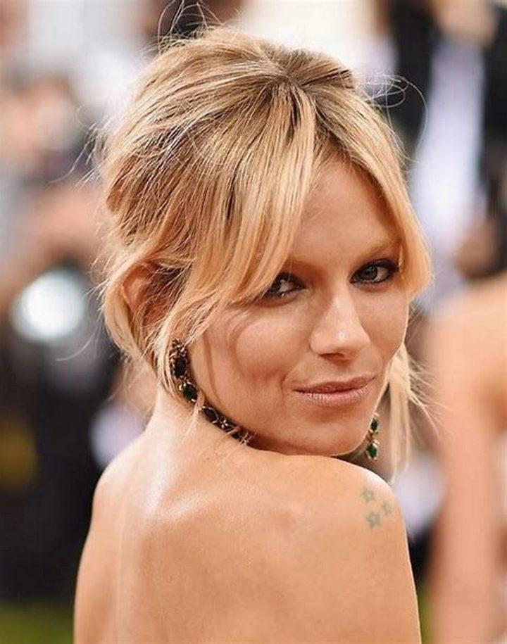 6 Celebrity Curtain Bangs - Sienna Miller