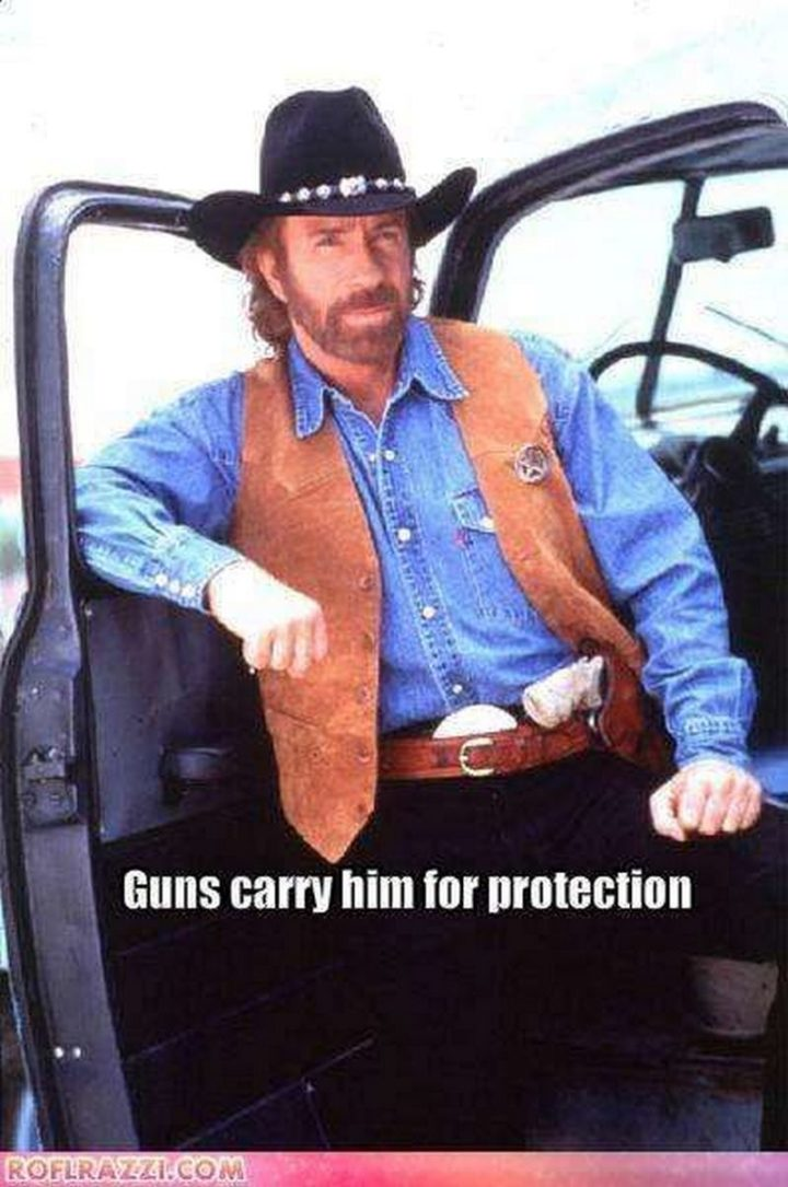 """""""Guns carry him for protection."""""""