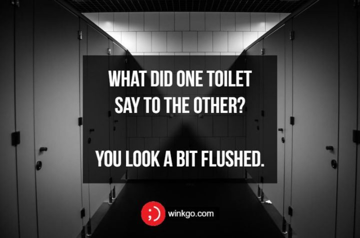 What did one toilet say to the other? You look a bit flushed.
