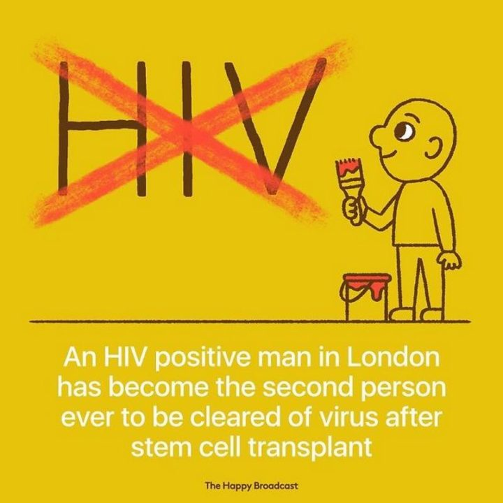 """The Happy Broadcast - """"An HIV positive man in London has become the second person ever to be cleared of the virus after stem cell transplant."""""""