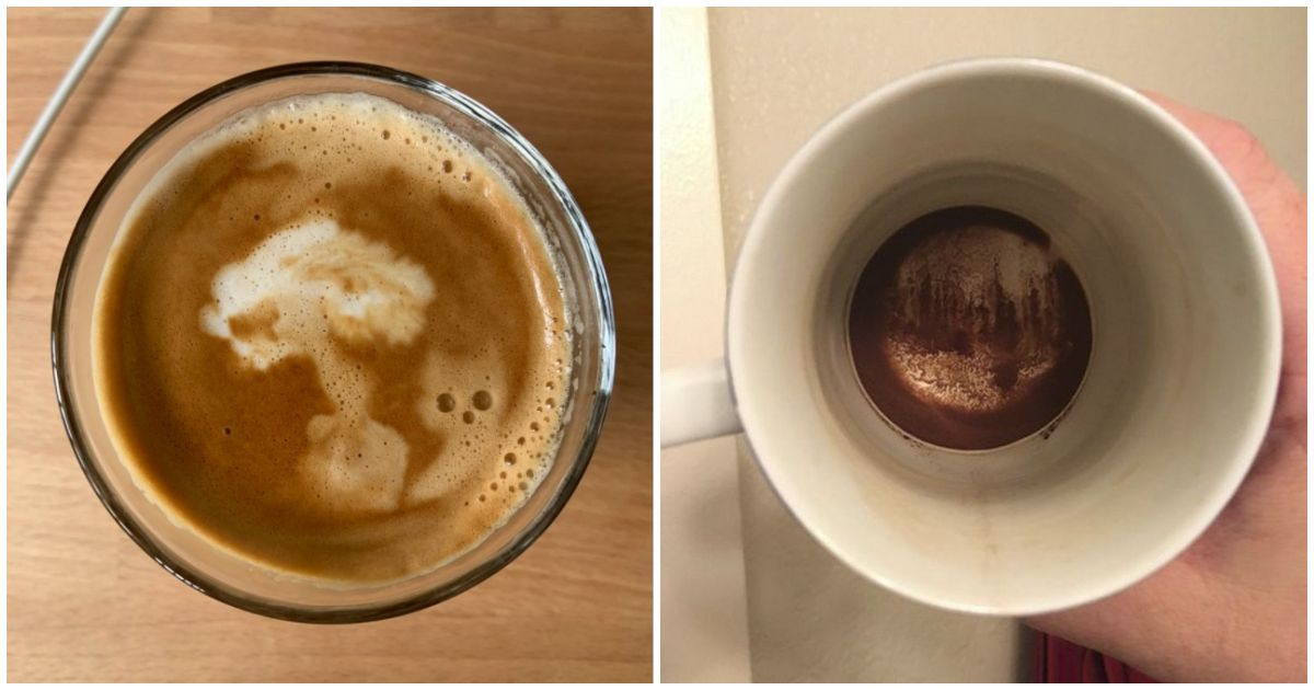 Accidental Coffee Art and Latte Art to Enjoy Over With Your Morning Brew