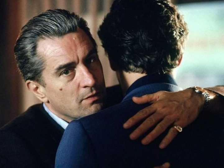 Every one of Robert De Niro's outfits had a watch and a pinkie ring to go with it.