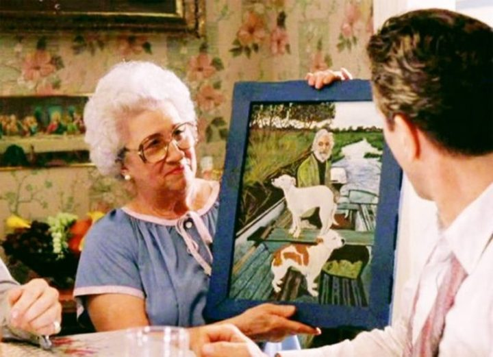 """The painting that Joe Pesci's character's mother brings out was actually painted by """"Wiseguy"""" author Nicholas Pileggi's mother."""
