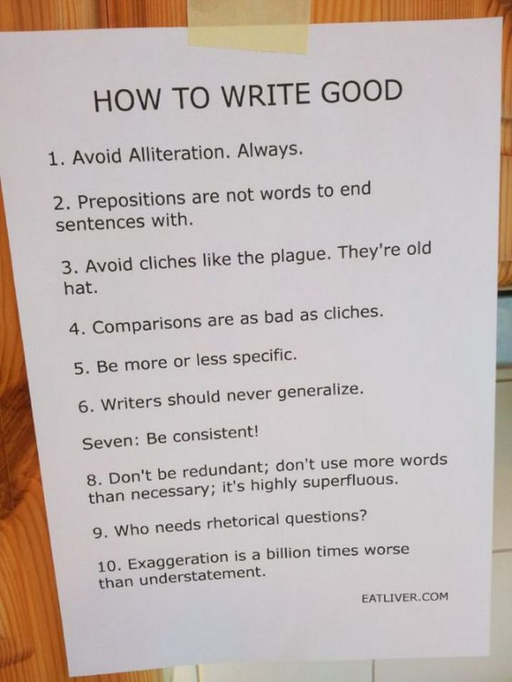 """""""How to write good."""""""