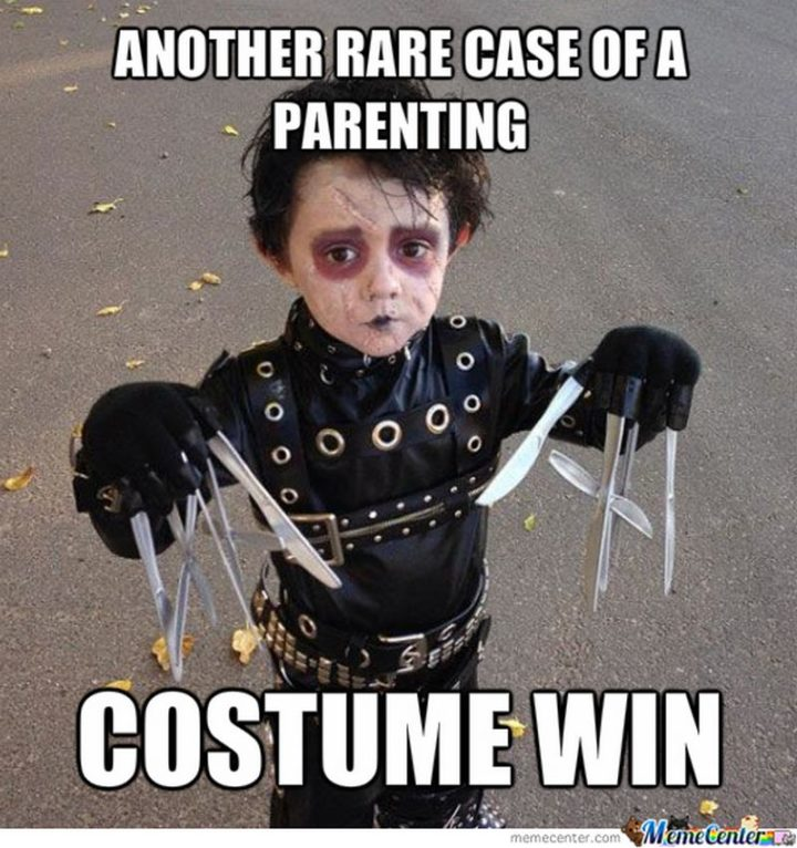 """""""Another rare case of a parenting Halloween costume win."""""""