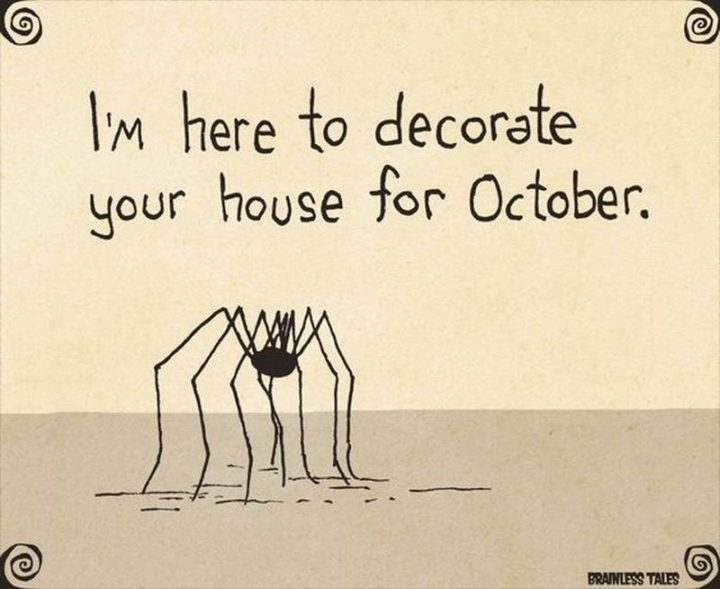 """""""I'm here to decorate your house for October."""""""