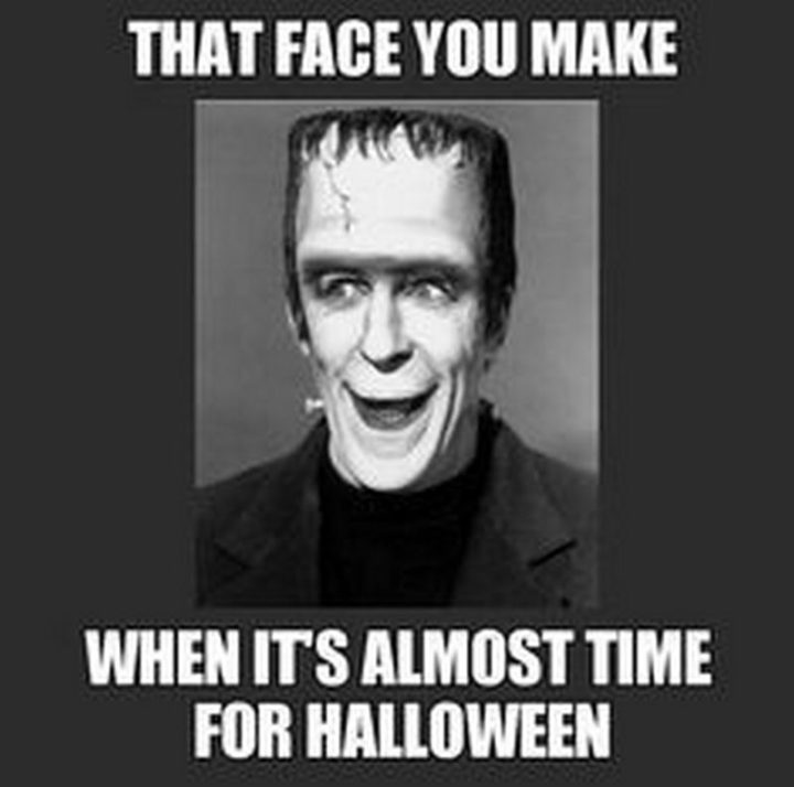 """""""That face you make when it's almost time for Halloween."""""""