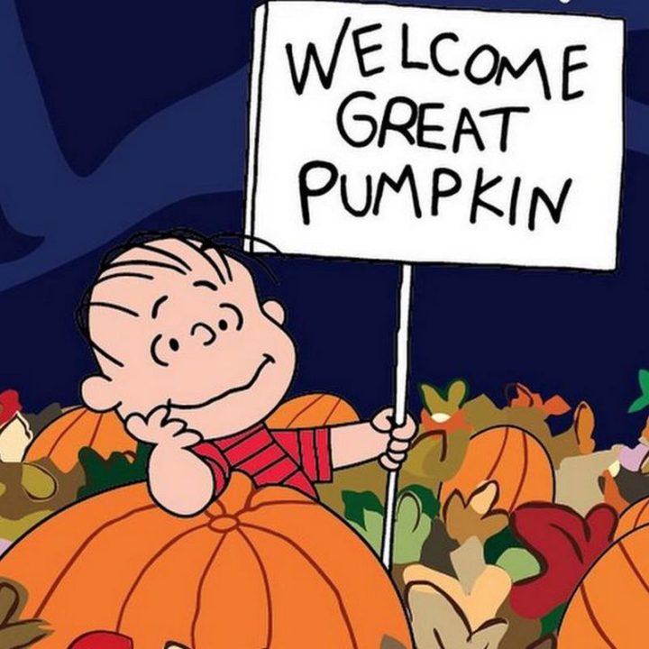 """""""Welcome Great Pumpkin."""""""