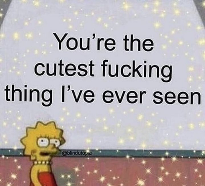 """""""You're the cutest [censored] thing I've ever seen."""""""