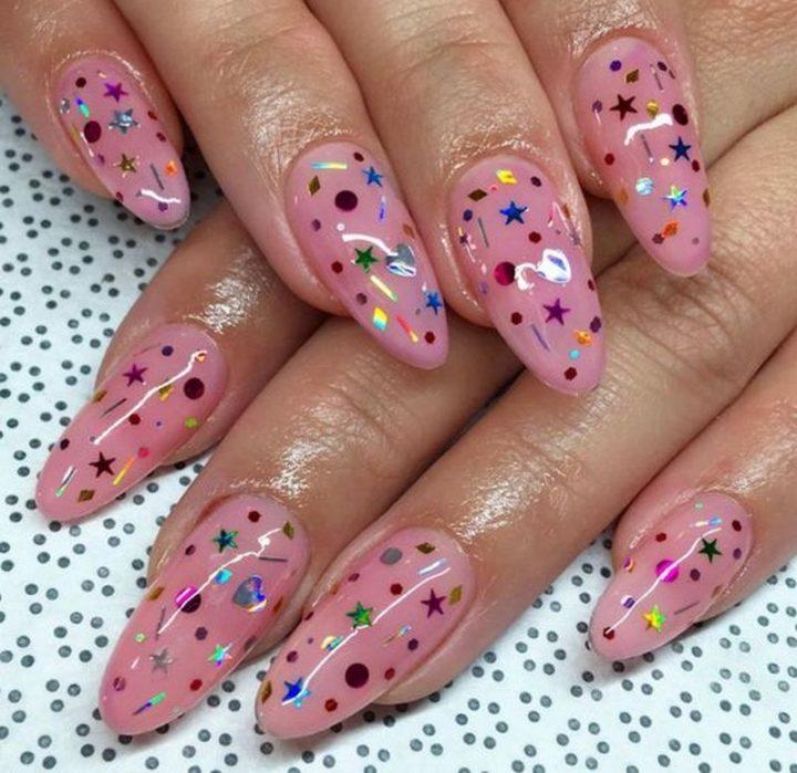 Creative and fun nails.