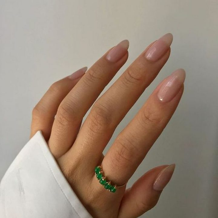 Gorgeous nude nails.
