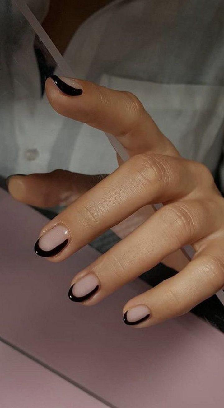 Super cute almond nails.