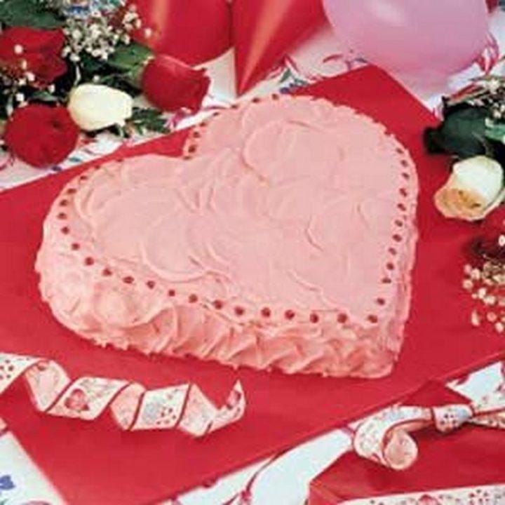 Strawberry Heart Cake.