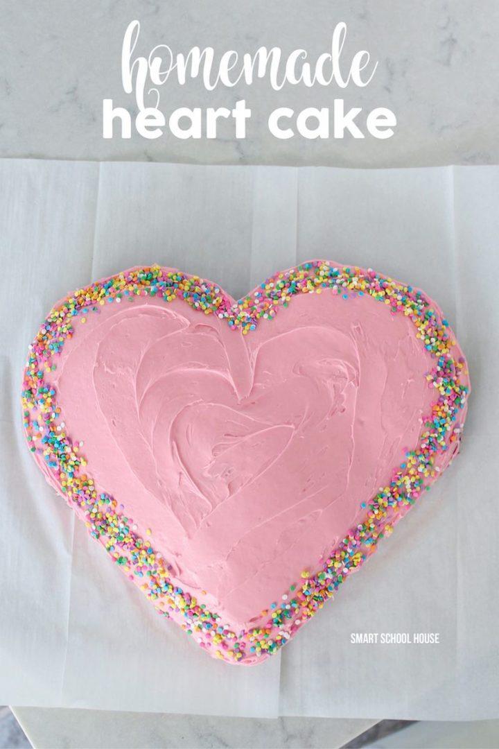 Homemade Heart Cake.