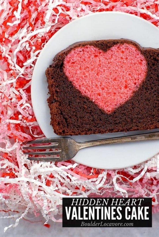 Hidden Heart Valentine's Pound Cake.