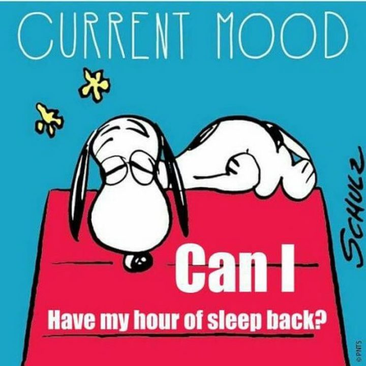 """""""Current mood: Can I have my hour of sleep back?"""""""