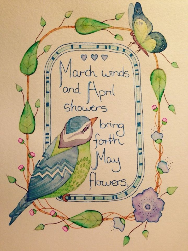 """""""March winds and April showers bring forth May flowers."""" - Old English Proverb"""