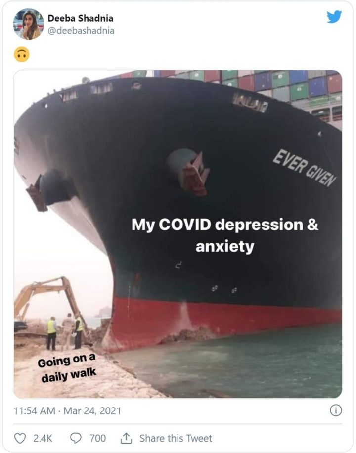 """Going for a walk. My COVID depression and anxiety."""