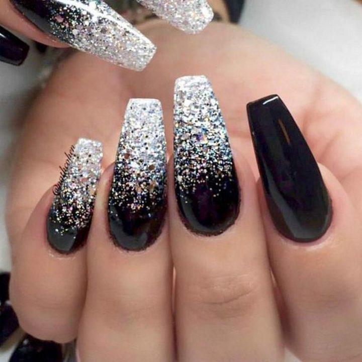 Let the black nail art designs begin!