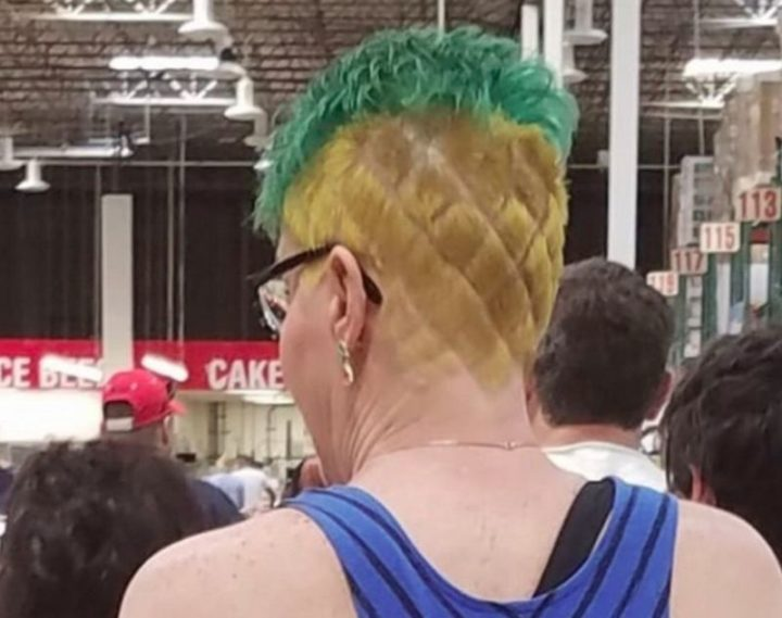 Funny haircuts when you want to look like a pineapple.
