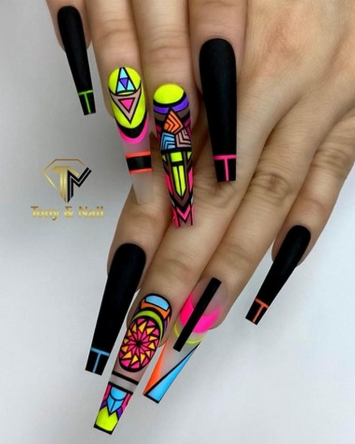 Multi-Color Nails.
