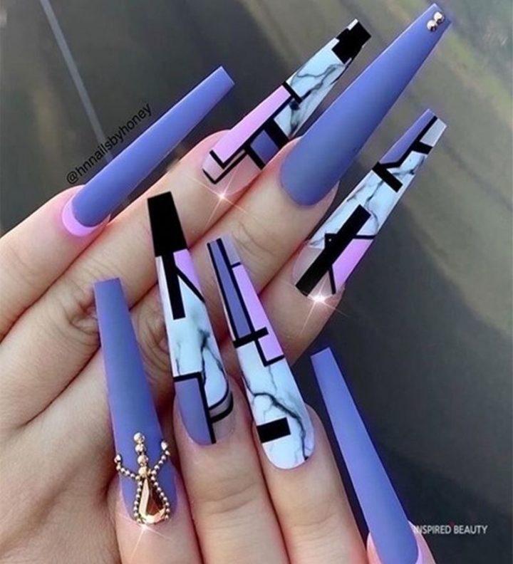 Long Acrylic Nails.