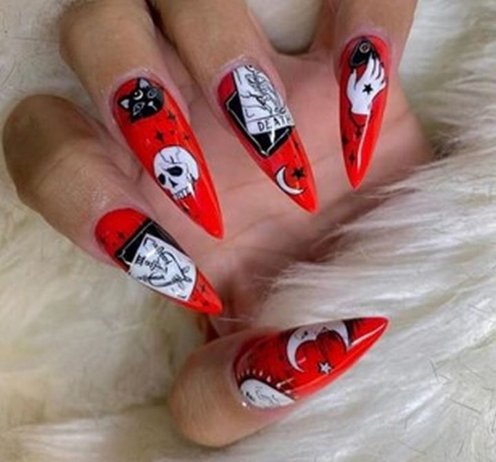 Acrylic Halloween Nails.