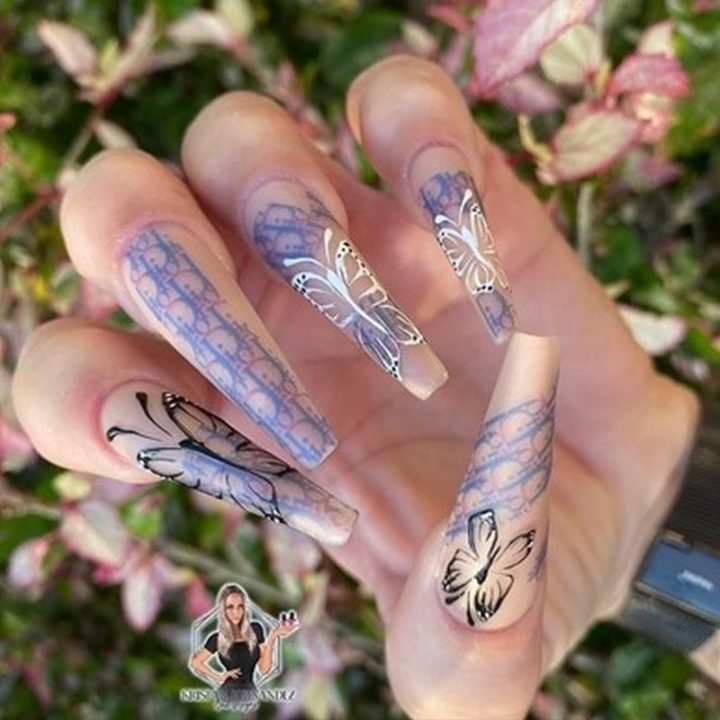 Dior + Butterfly Nails.