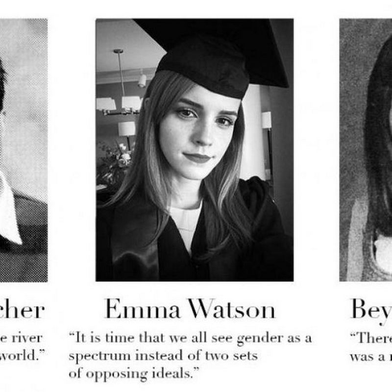 "75 Funny Yearbook Quotes - ""It is time that we all see gender as a spectrum instead of two sets of opposing ideals."" - Emma Watson"