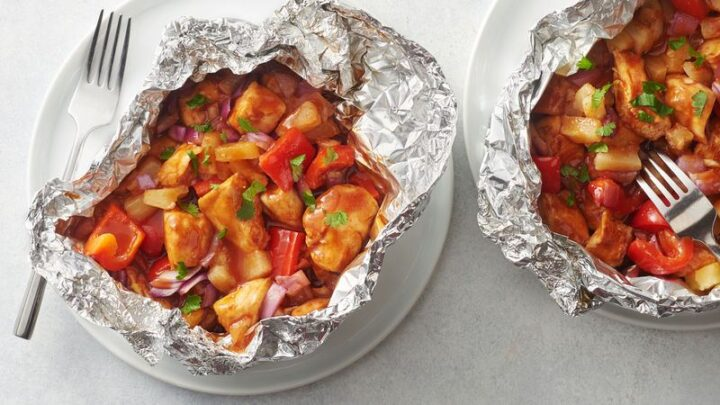 21 Camping Meals - BBQ Chicken Foil Packs
