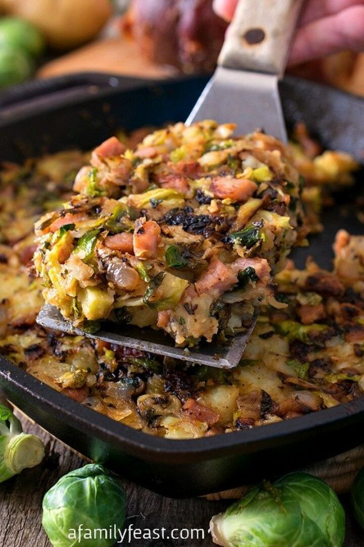 21 Camping Meals - Bubble and Squeak With Ham