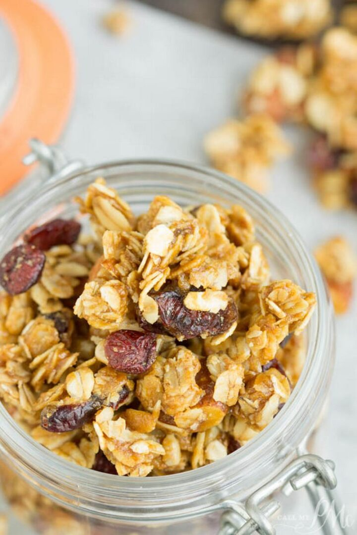 21 Camping Meals - Dried Cherry Almond Granola Clusters