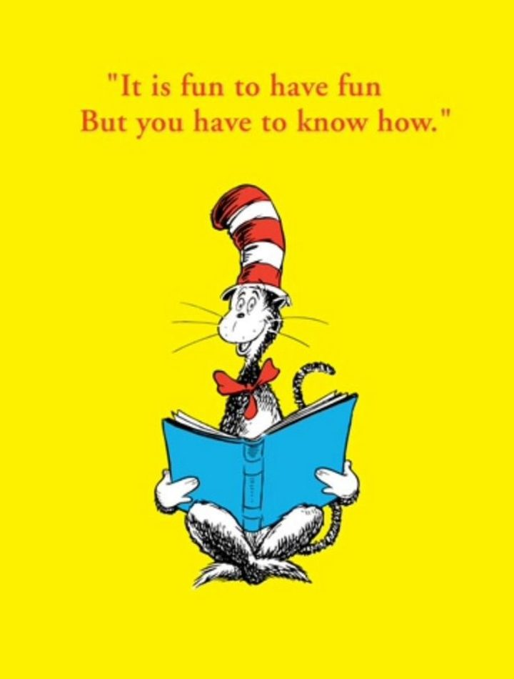 """""""It is fun to have fun but you have to know how."""" - Dr. Seuss"""