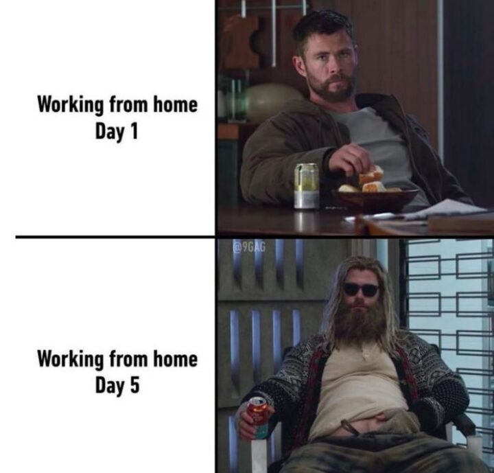 """Working from home: Day 1. Working from home: Day 5."""