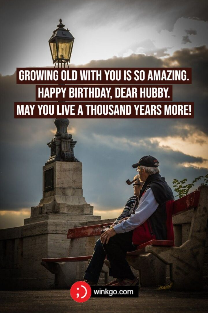 """""""Growing old with you is so amazing. Happy birthday, dear hubby. May you live a thousand years more!"""""""