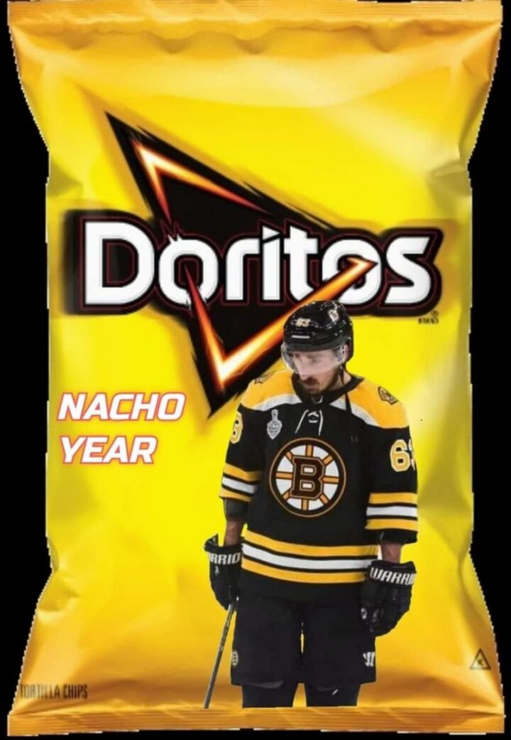"""75 Funny Hockey Memes - """"Doritos: Nacho year."""""""