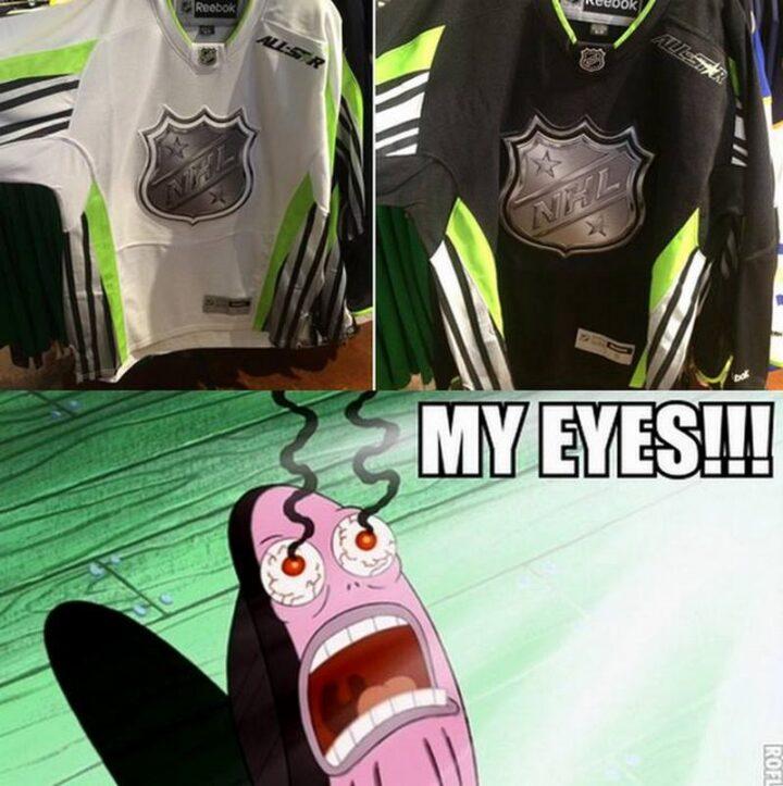 """75 Funny Hockey Memes - """"My eyes!!!"""""""