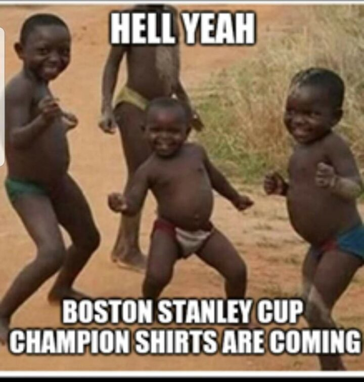 """""""Hell yeah, Boston Bruins Stanley Cup champion shirts are coming."""""""