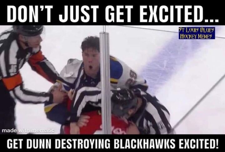 """""""Don't just get excited...Get Vince Dunn destroying the Chicago Blackhawks excited!"""""""